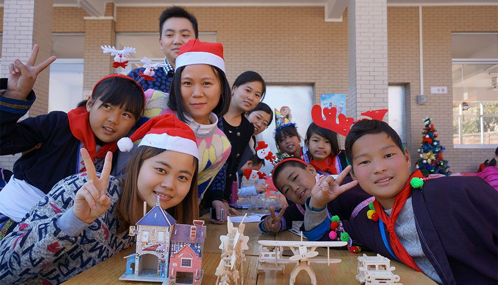 Spend Christmas Day with Left-Behind Children
